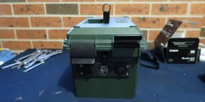 marine batteries in sealed box