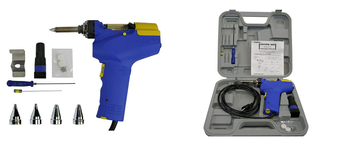 HAKKO FR-301 - best electric desoldering gun for professionals
